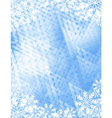 frosty background vector image