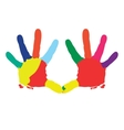 Isolated hand prints vector image
