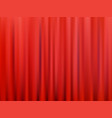 red closed theater curtain abstract vector image