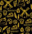 Seamless bakery pattern Retro design vector image