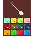 Shovel - icon with color variations vector image