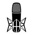 studio microphone icon simple black style vector image