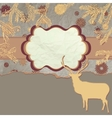Card with deers in christmas time EPS 8 vector image vector image