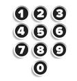 Number set label vector image
