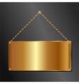 hanging panel vector image vector image