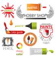 paint emblems vector image vector image