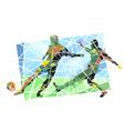 Multicolor footballers vector image vector image