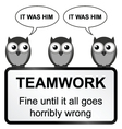 Teamwork sign vector image vector image