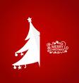 Christmas greeting card with Origami Christmas vector image