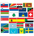 set of 24 flags countries started with S vector image