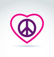 Peace and love theme - antiwar and love icons vector image vector image