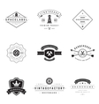 Retro Logotypes set vector image vector image