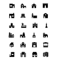 Building Icons 5 vector image