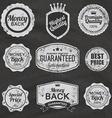 Set of vintage chalkboard bakery logo badges and vector image