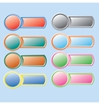 Varicolored button vector image