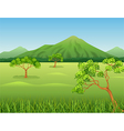 Cartoon of Beautiful jungle background vector image