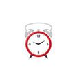 flat analog circle table red clock icon vector image