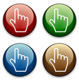 hand buttons vector image