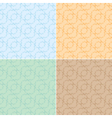 light seamless textures with curly elements - set vector image