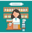 Pharmacist Concept Flat Design vector image