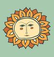 sun cartoon character as weather sign temperature vector image