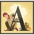 Fairytale children book alphabet vector image vector image