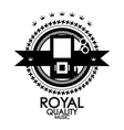Black retro vintage label tag badge royal vector image vector image