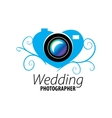 logo wedding photographer vector image