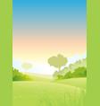 summer or spring morning seasons poster vector image