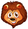 A head of a smiling lion vector image vector image