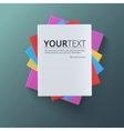 Stack of blank books top view vector image