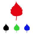 birch leaf icon vector image