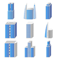 Blue real estate set of icons vector image