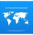 Blueprint world map vector image