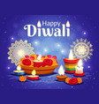 diwali realistic background vector image