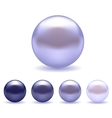 Exotic Blue Pearls Set vector image