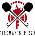 firemans pizza concept with oven and peels vector image