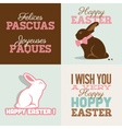 Happy easter cards with easter vector image