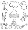 holiday object doodles vector image