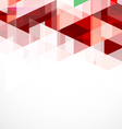 Modern red geometrical abstract template vector image