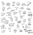 objects in kitchen icon set vector image