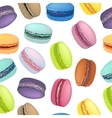 Seamless pattern with colorful macaroon cookies vector image