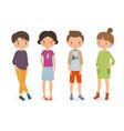stylish boys and girls vector image
