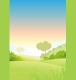 summer or spring morning seasons poster vector image