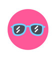 sunglasses icon sun glasses for summer vacation vector image
