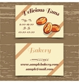 Template Business Card Bakery vector image