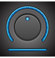 Volume button and timer line vector image