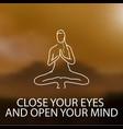 yoga quote vector image