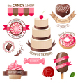 sweets emblems vector image vector image