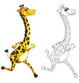 doodle animal for giraffe vector image